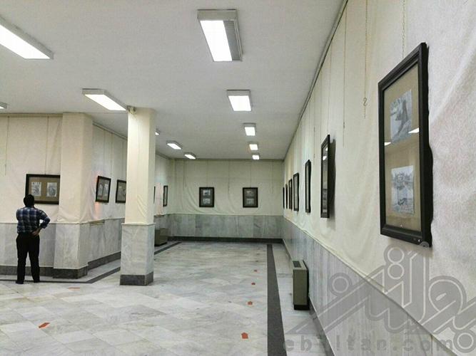 نگاهی به نمایشگاه آثار سیاهقلم رقیه زاهدی