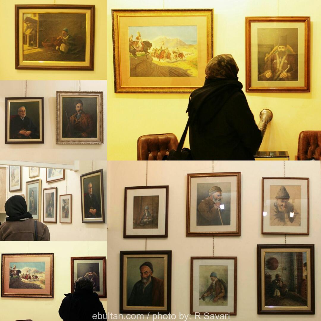 گزارش تصویری نمایشگاه نقاشی رسام نخجوانی