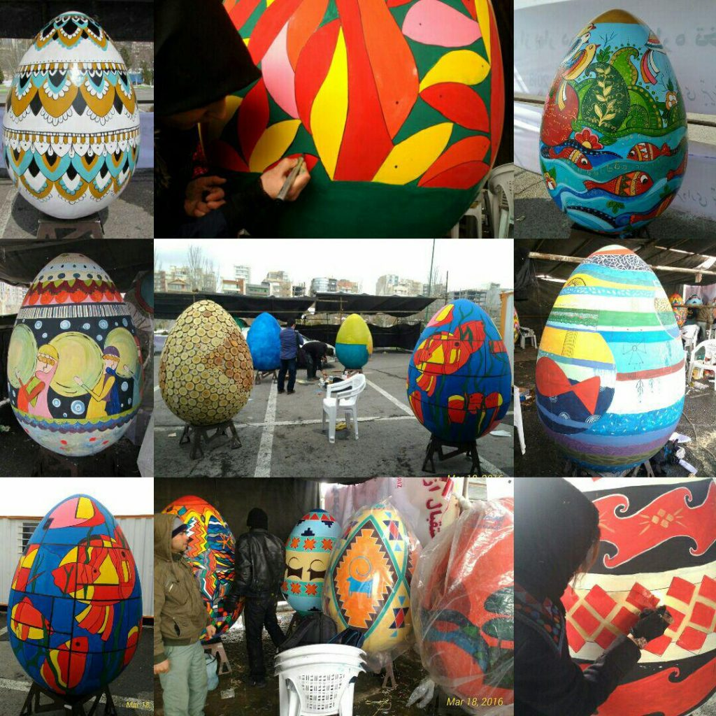 گزارش تصویری دومین جشنواره تخم مرغهای نوروزی