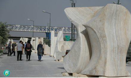 آثار خلق شده در سومین سمپوزیوم مجسمههای سنگی تبریز به نمایش در آمد.