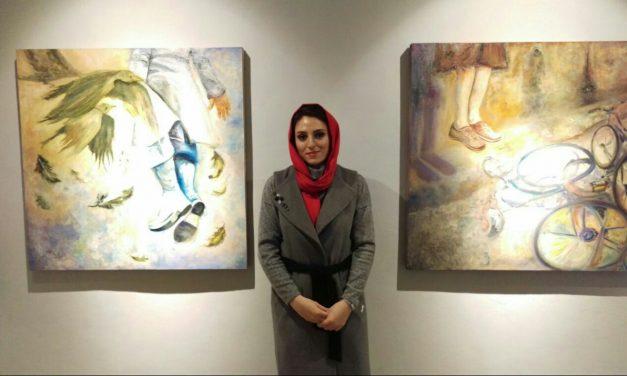 نمایشگاه نقاشی دل آرام کرمانی «سرگشتگی»