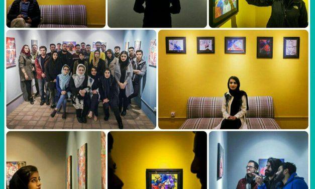گزارش تصویری نمایشگاه انفرادی نقاشی آیدا تیمورلویی