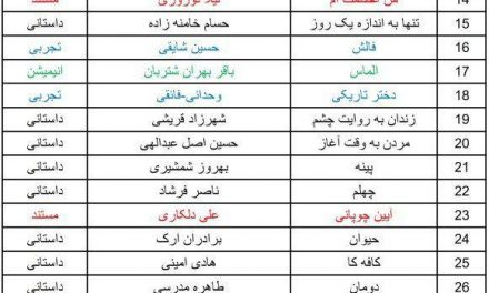 اسامی آثار راهیافته به بخش مسابقه نخستین جشنواره فیلم تبریز