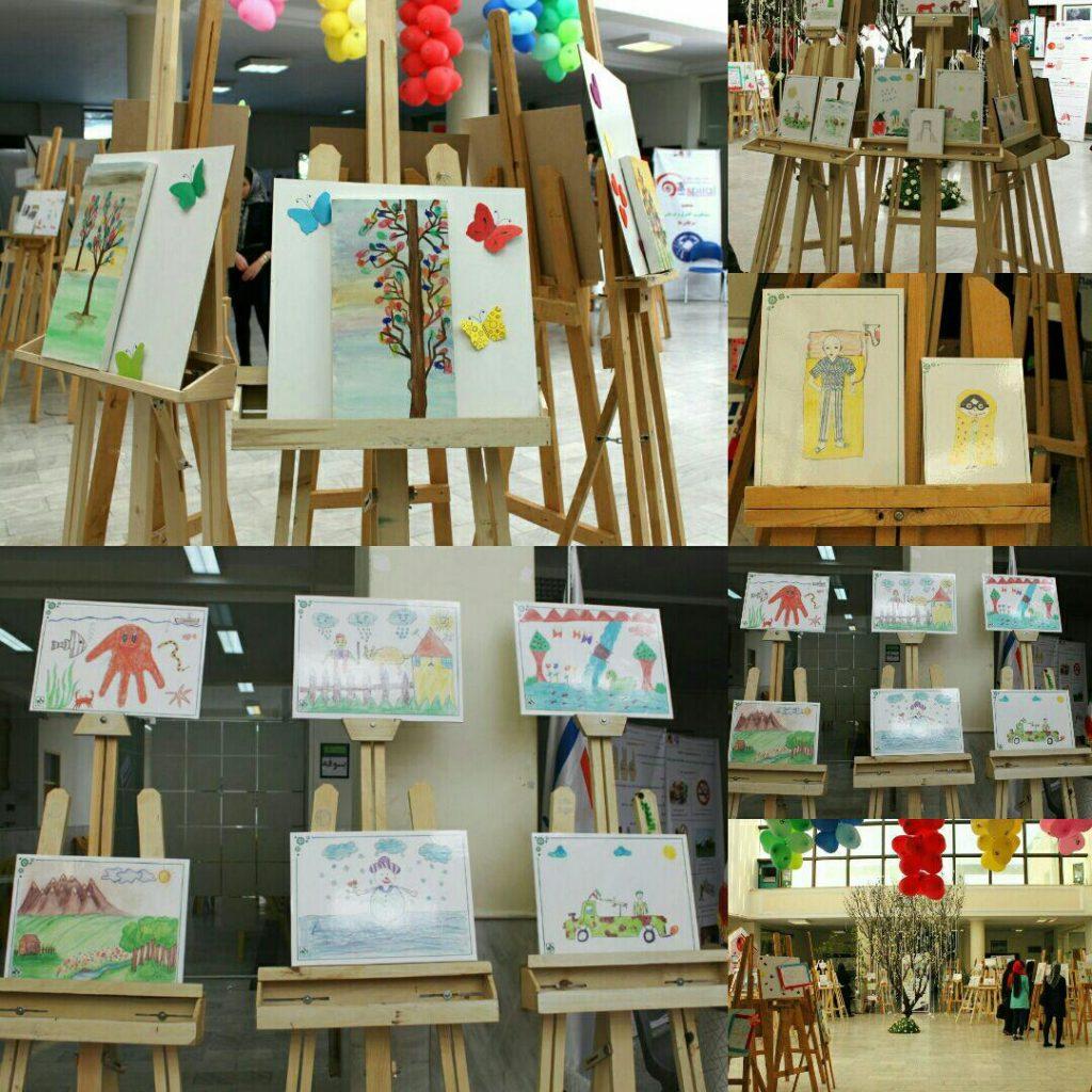گزارش تصویری سومین نمایشگاه نقاشی کودکان مبتلا به سرطان