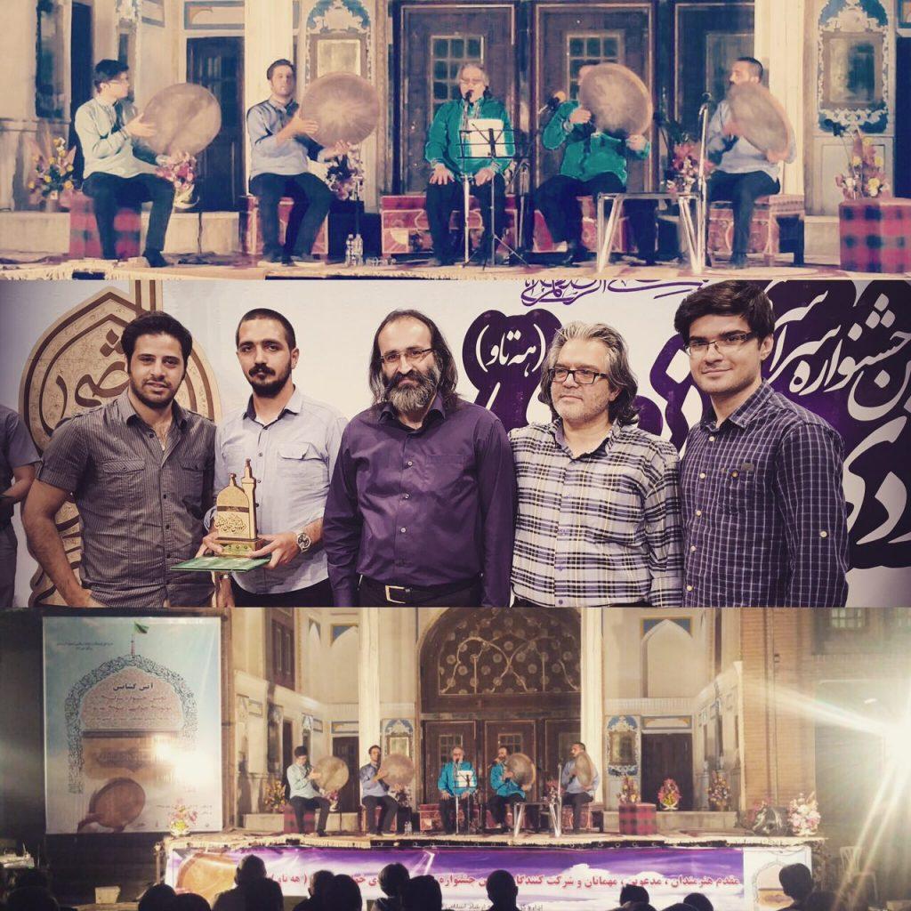 گروه دف نوازان سماع تبریز در جشنواره مولودیخوانی به مقام سوم دست یافت
